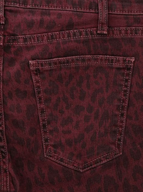 Calça Current Elliott The Ankle Skinny Burgundy