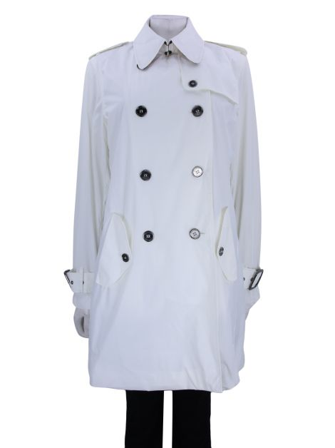Trench Coat Burberry Brit Nylon Off white