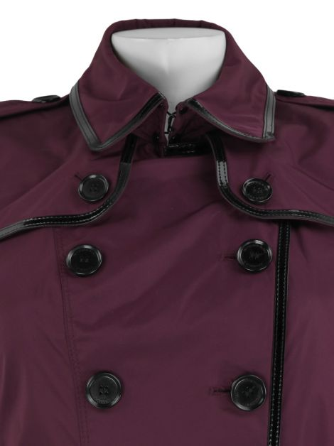 Trench Coat Burberry Poliéster Roxo