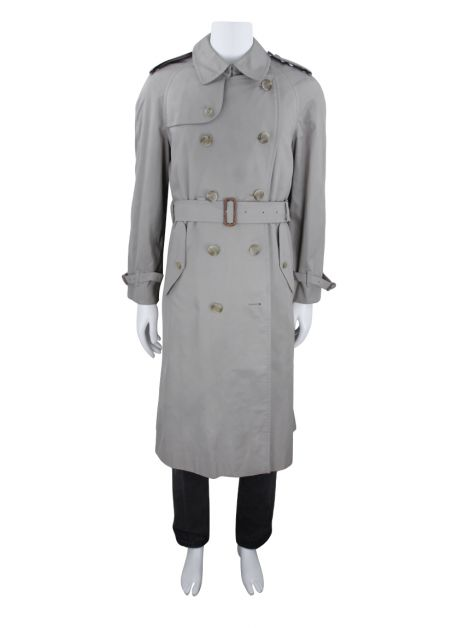 Trench Coat Burberry's Vintage Bege Masculino