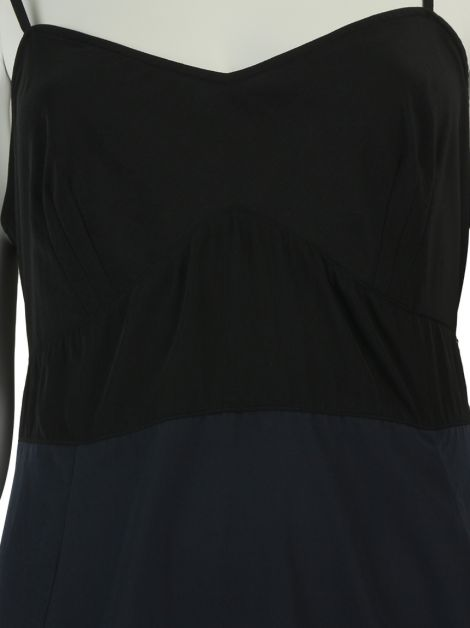 Vestido All Saints Reto Bicolor