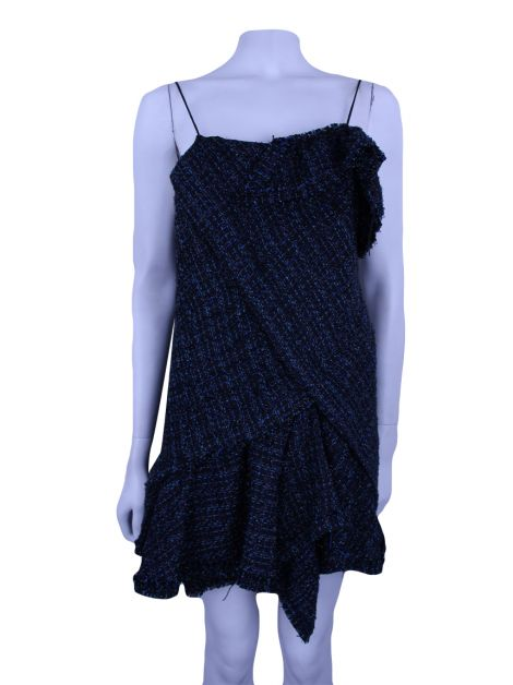Vestido Animale Concept Tweed Azul