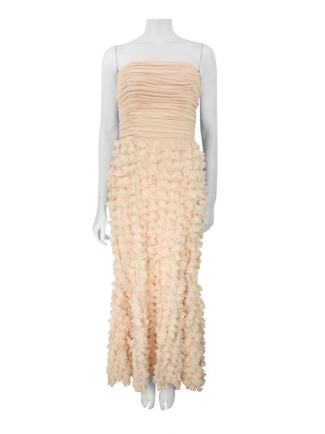 Vestido Badgley Mischka Collection Rosa Longo