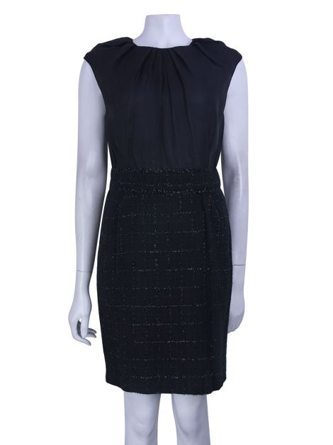 Vestido Carolina Herrera Tweed Preto