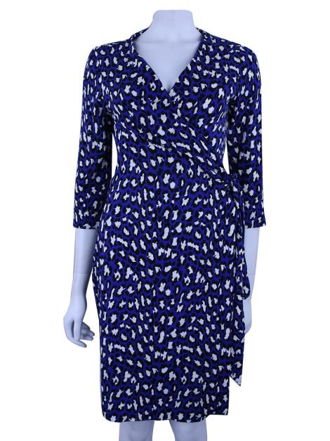 Vestido Diane Von Furstenberg New Julian Two Animal Print