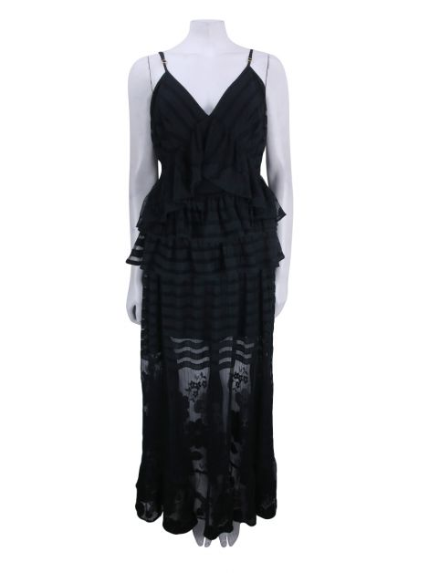 Vestido Mixed Renda Preto