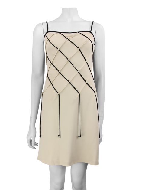 Vestido Moschino Cheap And Chic Creme Tiras