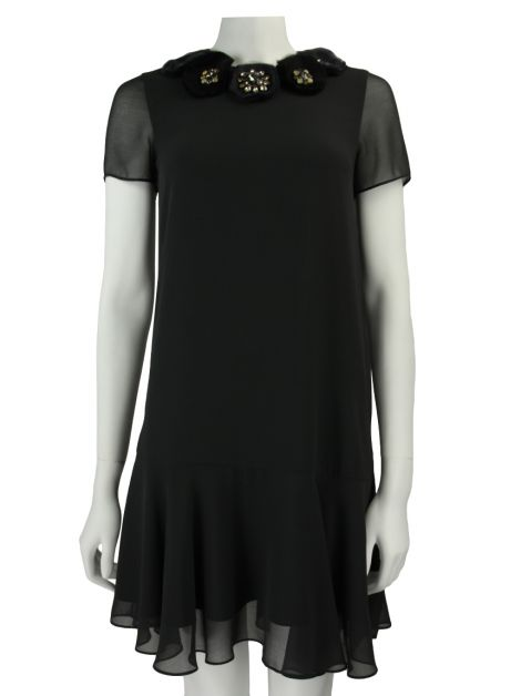 Vestido Needle & Thread Preto Pedraria
