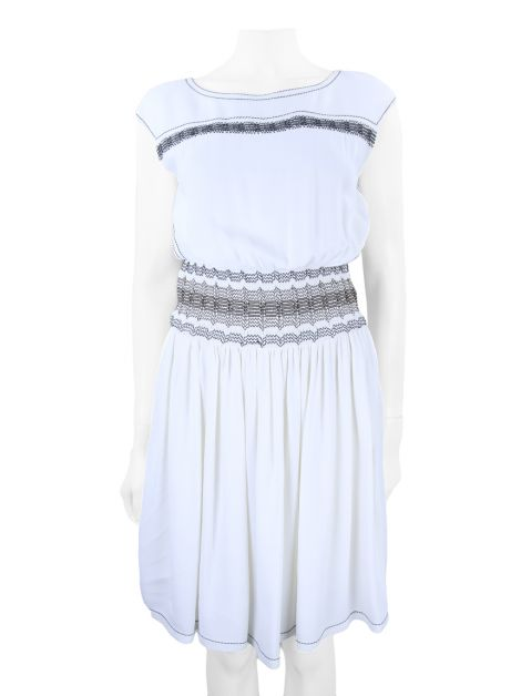 Vestido Prada Bordado Off White