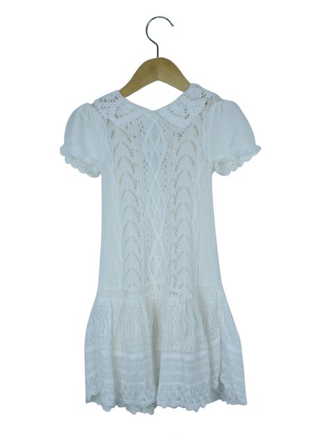 Vestido Ralph Lauren Tricô Off White Toddler