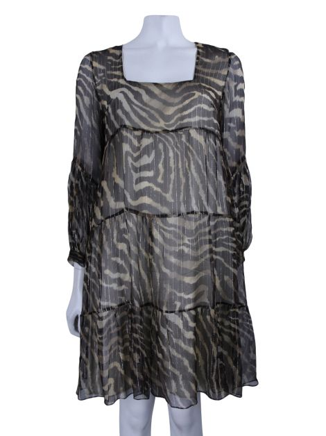 Vestido Super Suite Seventy Seven Animal Print Lurex
