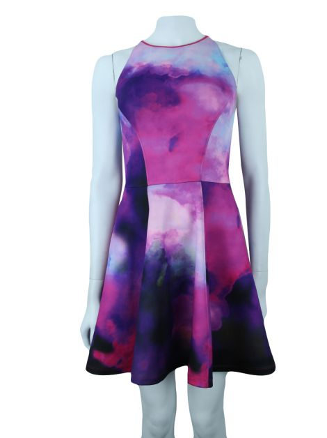 Vestido Ted Baker Evasê Nim Summer At Dusk