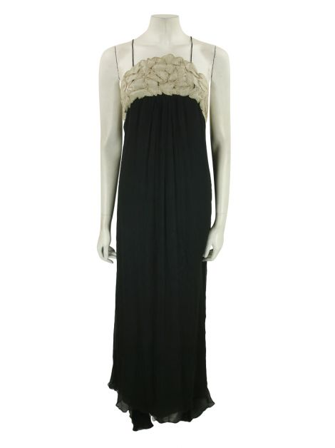 Vestido Temperley London Seda Preto