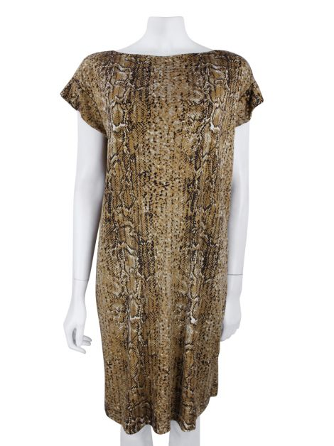 Vestido Tory Burch Sawyer Seda Animal Print