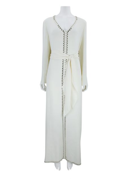 Vestido Tory Burch Seda Off-White