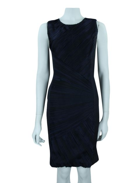 Vestido Vera Wang Collection Babados Azul