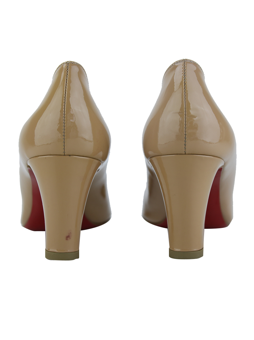 best website 4aaf9 3fb4d Sapato Christian Louboutin Cadrilla 70 Bege