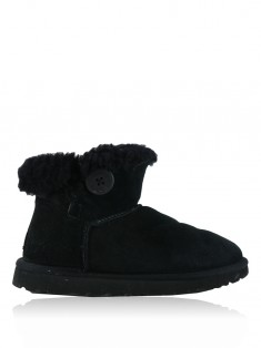 Bota UGG Mini Bailey Button II Camurça Preto