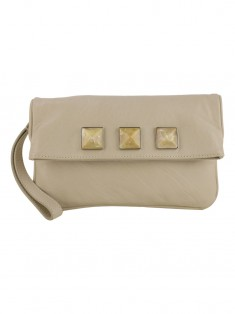 Clutch Marc Jacobs Studs Couro Off White