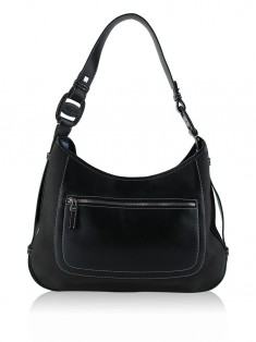 Bolsa Salvatore Ferragamo Canvas Hobo Shoulder Bag Preto