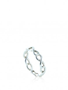 Anel Tiffany & Co Infinity Narrow Band Prata
