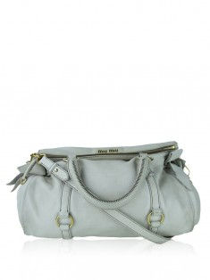 Bolsa Miu Miu Vitello Lux Bow Off White