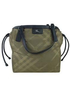 Bolsa Burberry Buckleigh Nylon Marrom