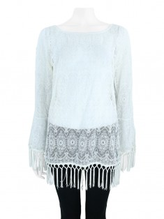 Blusa Bobstore Renda Off White