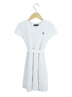 Vestido Polo Ralph Lauren Tricô Off White