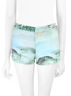 Shorts Adriana Degreas Neoprene Estampado Verde