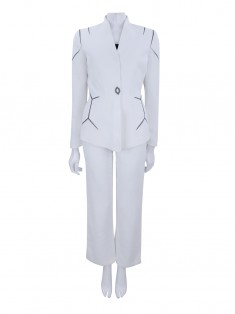 Terno Thierry Mugler Recortes Off White