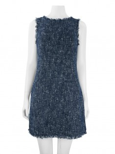 Vestido Daslu Tweed Bicolor