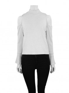 Blusa Mixed Canelada Off White