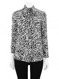 Camisa Burberry Animal Print P&B