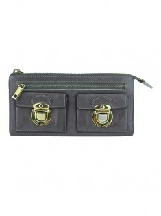 Carteira Marc Jacobs  Double Push Lock Taupe