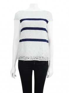 Blusa Carolina Herrera Renda Off-White