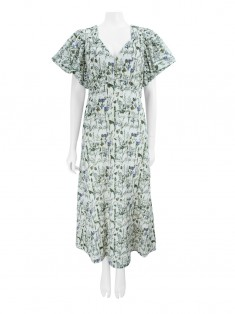 Vestido Mixed Broderie Anglaise