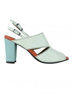 Sapato Botti Croco Off White