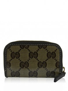 Porta Moeda Gucci Crystal Canvas Zip Around