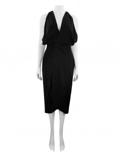 Vestido Choix X Carolina Glidden Gannon Best In Black Seda