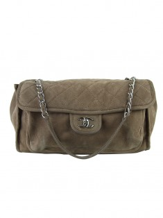 Bolsa Chanel Natural Beauty Flap Marrom