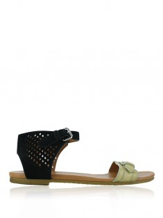 Flat Marc By Marc Jacobs Couro Bicolor