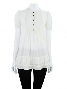 Blusa Burberry Seda Off White