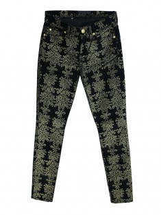 Calça Seven For All Mankind Brocade Print Skinny