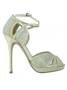 Sapato Jimmy Choo Fayme Embroidered Off White