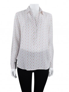 Camisa Ann Taylor Estampas Off White