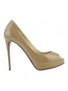 Sapato Christian Louboutin New Very Prive 120 Bege
