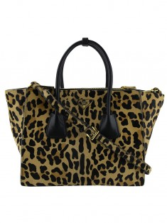 Bolsa Prada Twin Pocket Cavalino Leopardo