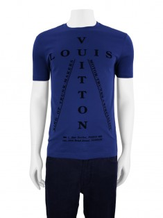 Camiseta Louis Vuitton Flock Print Azul