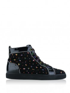 Tênis Christian Louboutin New No Limit Strass Preto